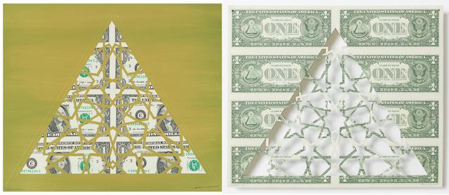 , 'Divine Structure: Triangle (Diptych),' 2017, Aicon Gallery