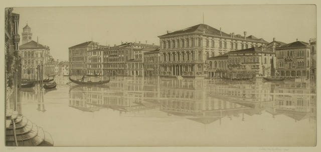 John Taylor Arms, 'Venetian Mirror, Grand Canal, Venice', 1933, Private Collection, NY