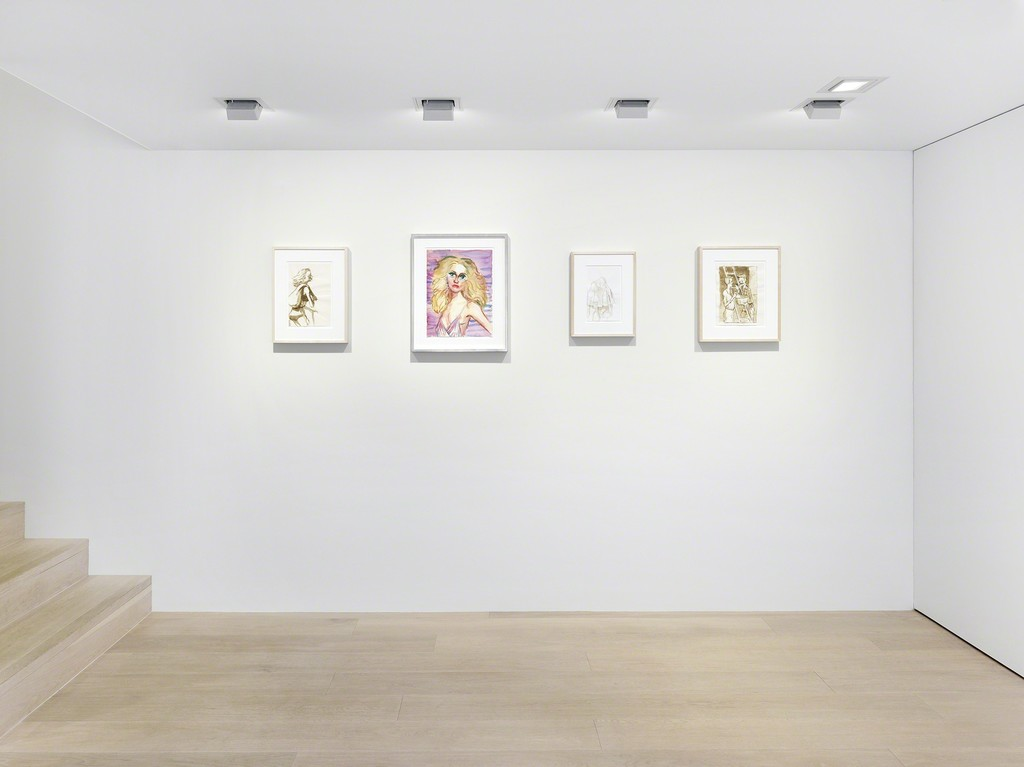 Installation view. Artwork © John Currin. Photo: Annik Wetter. Courtesy Gagosian.