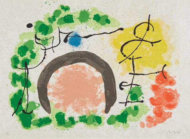 Joan Miró, 'Le lézard aux plumes d'or: one plate', 1969, Phillips