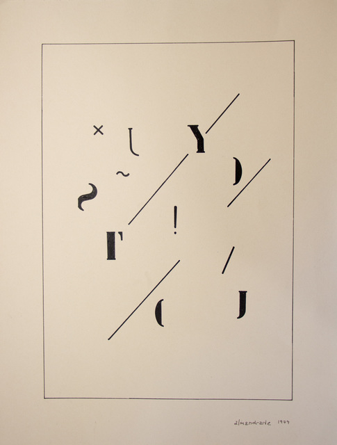 , 'Visual Poem,' 1979, Galeria Karla Osorio