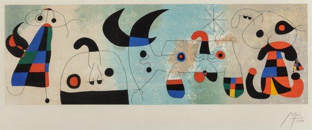 Joan Miró, 'Sur quatre murs', 1951, Heritage Auctions