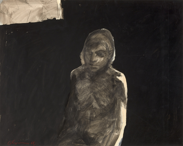 , 'Figure with Black Background,' 1968, Brian Gross Fine Art
