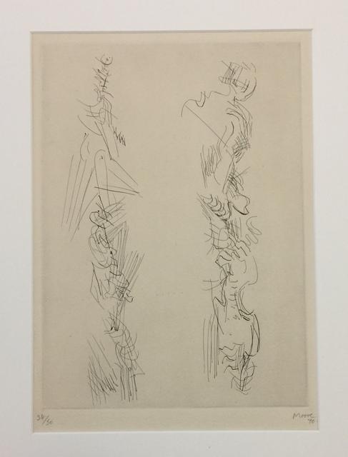 Henry Moore, 'Two Standing Figures', 1970, Wallector