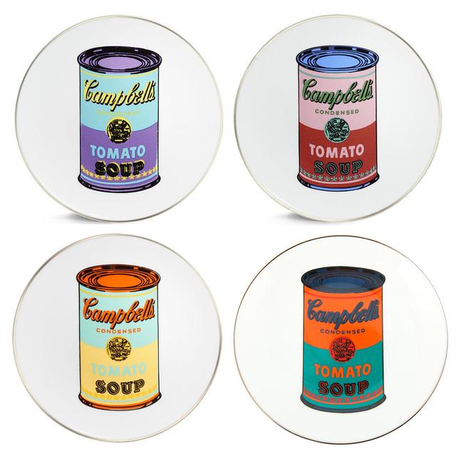 Andy Warhol, 'Campbell's Soup Can Plate Set', ca. 2017, Design/Decorative Art, Limoges Porcelain, Artware Editions