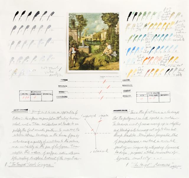 """, 'Análisis de """"La Tempestad"""" (Giorgione),' 1975, Herlitzka + Faria"""