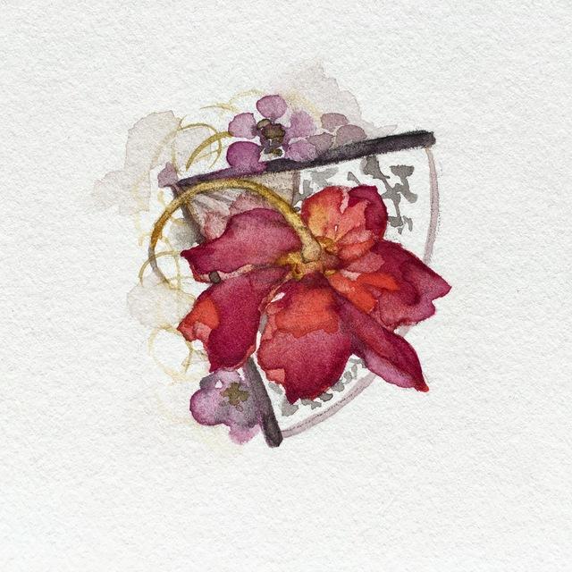 , 'Flash Red Flower,' 2017, Ghostprint Gallery