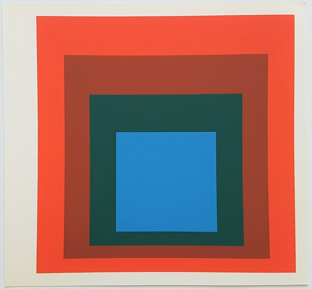 Josef Albers, 'Homage to the Square: Blue + Darkgreen with 2 Reds', 1977, Cerbera Gallery