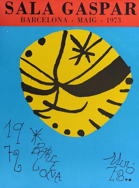 Joan Miró, 'Sala Gaspar', 1972, Print, Lithograph, Goldmark Gallery