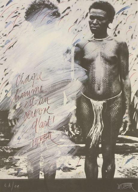 Wolf Vostell, 'Chaque Homme Est Un Oeuvred'Art', 1983, Sworders