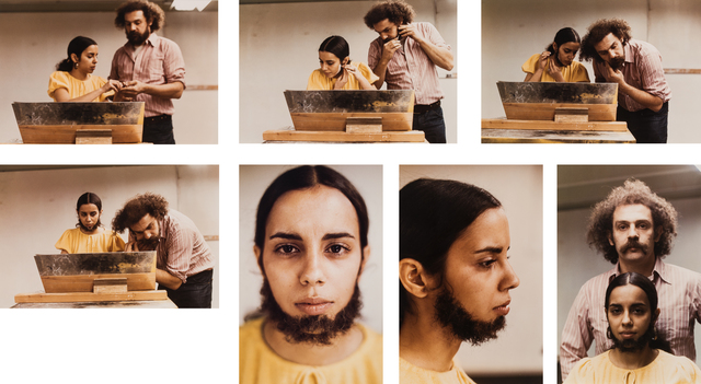 , 'Untitled (Facial Hair Transplants),' 1972, Galerie Lelong & Co.