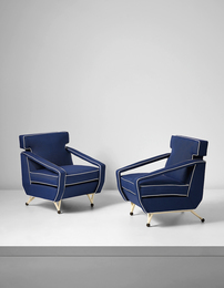 Augusto Romano, 'Pair of armchairs, designed for Villa Cirio, Bardonecchia,' ca. 1954, Phillips: Design
