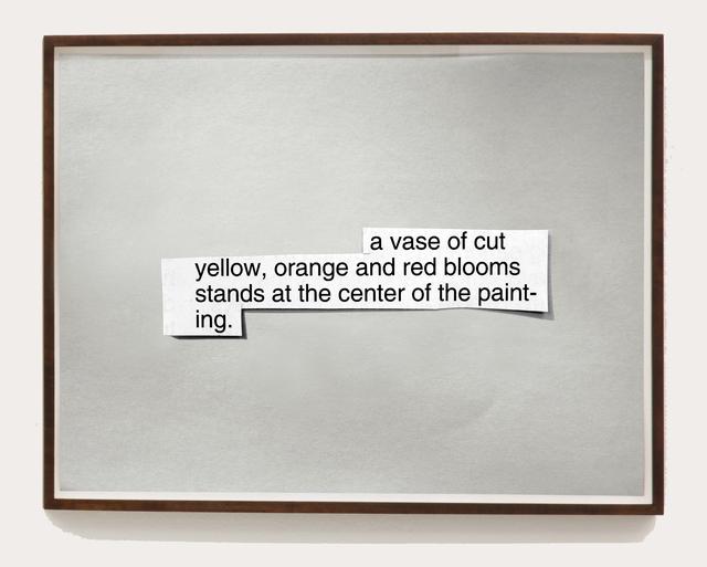""", 'Picture #19 """"A vase of cut yellow"""",' 2013, Galleria Raffaella Cortese"""