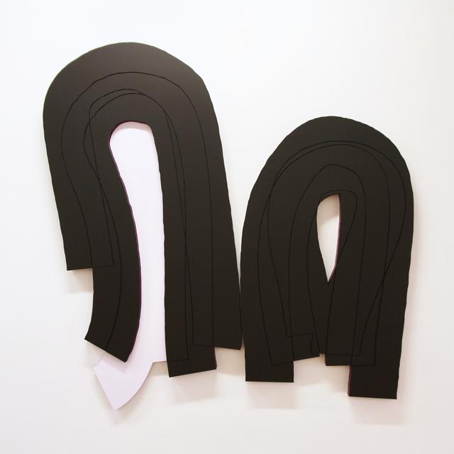 , 'Stroke Weight 60 #1, diptych,' 2017, Galerie Richard