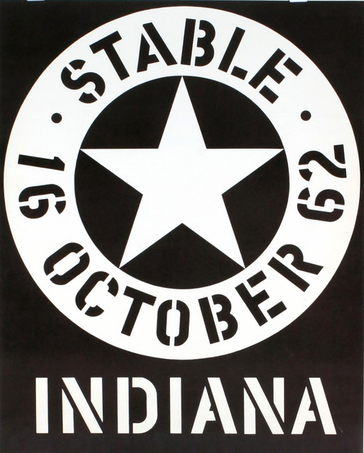 Robert Indiana, 'Stable Gallery October 1962 (Hand Signed & Inscribed)', 1962, Print, Silkscreen Poster (Hand Signed & Dedicated), Alpha 137 Gallery