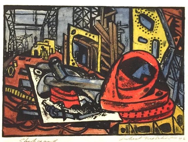 , 'Shipyard,' 1942, Susan Teller Gallery