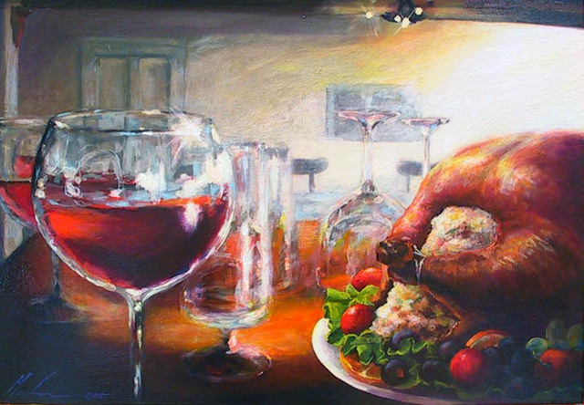 , 'Feast and Be Merry (the sale of this work benefits the non-profit Zenith Community Arts Foundation),' , Zenith Gallery