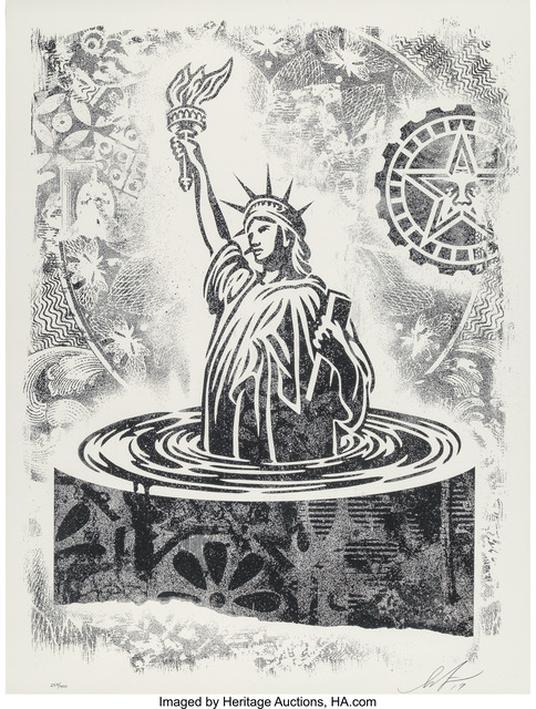 Shepard Fairey (OBEY), 'Damaged Stencil Series, set of eight works', 2017, Heritage Auctions