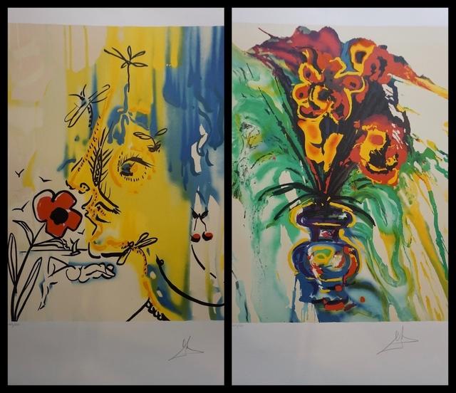 Salvador Dalí, 'Fleurs Surréaliste Suite', 1980, Print, 2 Lithographs, Fine Art Acquisitions