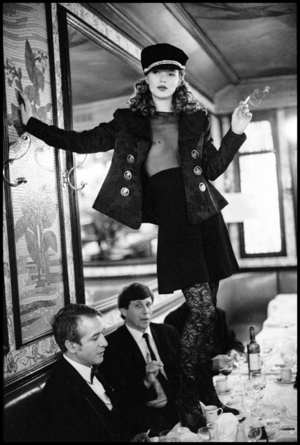 , 'Kate Moss at Café Lipp, Paris, Vogue Italia,' 1993, Atlas Gallery