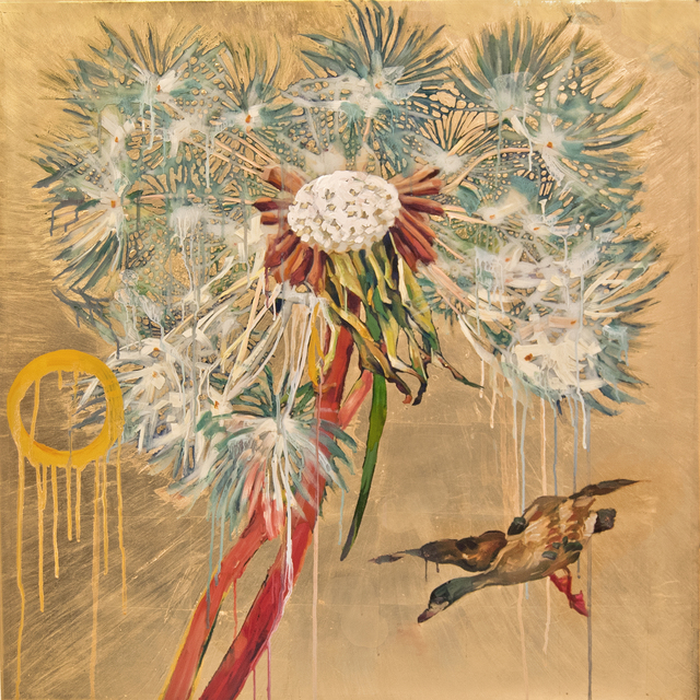 , 'Dandelion with Mallard,' 2016, Turner Carroll Gallery