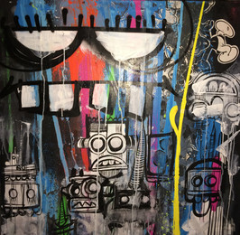 Phetus88, 'Robbots,' 2012, Fine Art Auctions Miami: Major Street Art