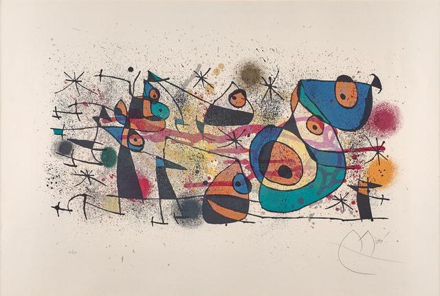 Joan Miró, 'L'Arrivée du Chevalier', 1974, Rago