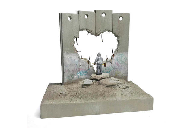 Banksy, ''Defeated' Souvenir Wall Section', 2019, Sculpture, Painted cast resin and concrete, Marcel Katz Art