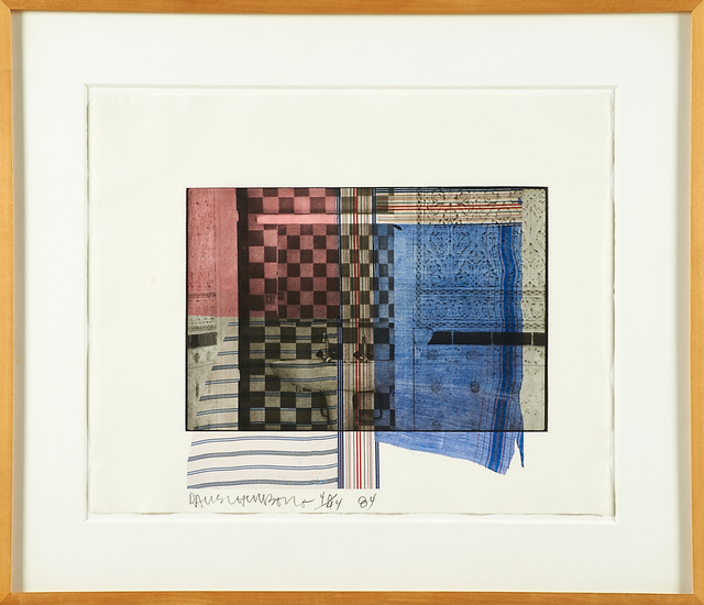 Robert Rauschenberg, 'Faus', 1984, Print, Lithograph and intaglio in colors on J. Whatman 1950 paper (framed), Rago/Wright