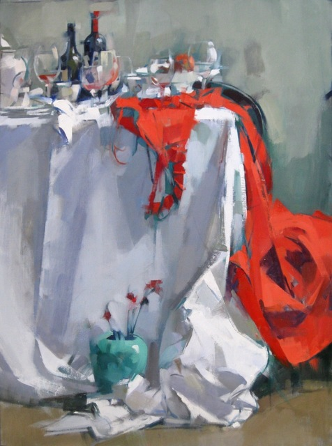 , 'Red Dress on Table,' 2016, J. Cacciola Gallery