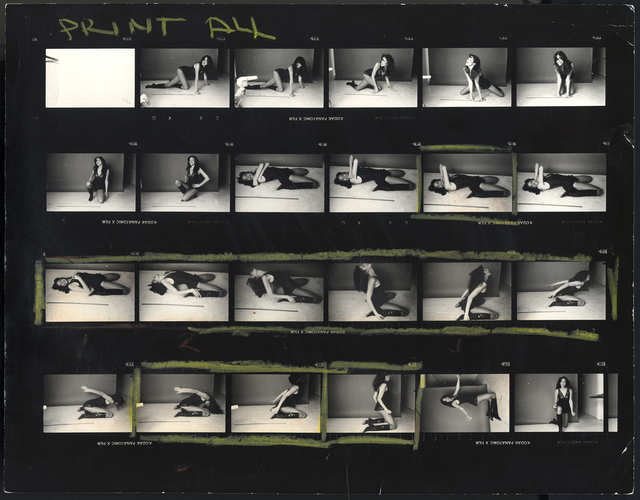 ", 'Carly Simon, ""Playing Possum"" Album Cover (Contact Sheet),' , Fahey/Klein Gallery"