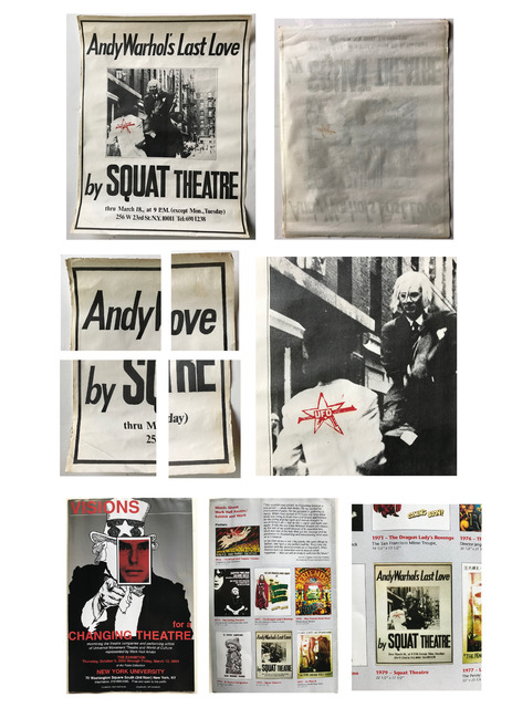 "Andy Warhol, '""Andy Warhol's Last Love- by Squat Theatre"", 1978, Poster/Paste-Up with Red Stamp, Ex. NYU Collection', 1978, VINCE fine arts/ephemera"