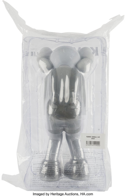 KAWS, 'Small Lie (Gray)', 2017, Other, Painted cast vinyl, Heritage Auctions