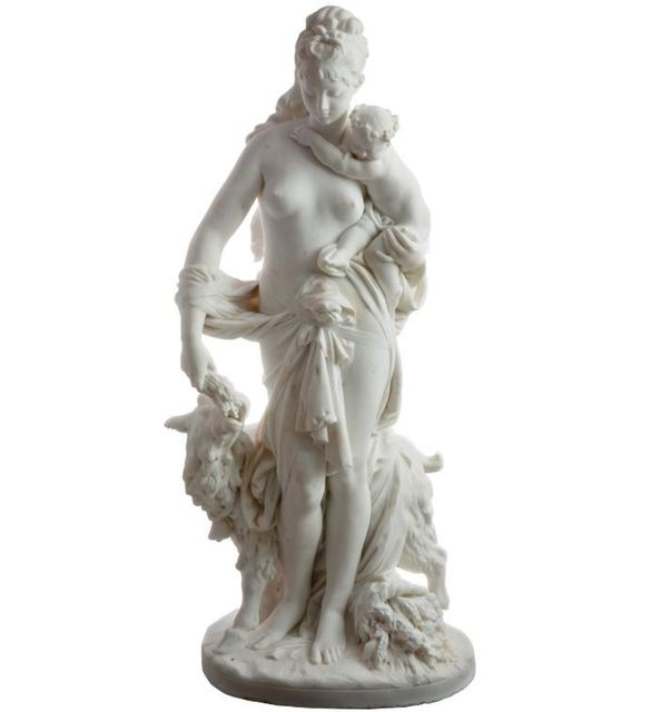 Albert-Ernest Carrier-Belleuse, 'Le Retour des Champs 'Return from the Harvest' Carrara Marble, Signed and Dated', 1860 -1870, Angels Art Collection