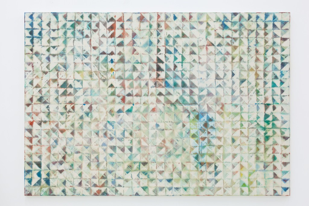 Lynne Golob Gelfman, Trued Surface, Thru 1, Acrylic on canvas, 66 x 96 inches