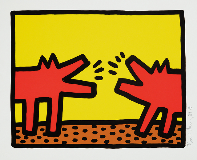 Keith Haring, 'Pop Shop IV: one plate', 1989, Phillips