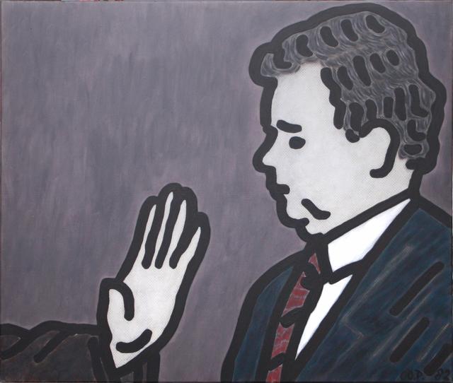 , 'Portrait von Kurt Biedenkopf mit der Hand von F.J Strauss,' 1982, Galerie Hans Mayer