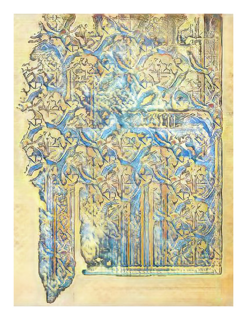 , 'Narrative Frame (Illuminated Manuscripts 5),' 2019, Mark Moore Fine Art