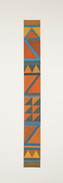 , 'B7 - Bedouin kilim pattern with 2 orange triangles at the bottom,' 2016, Sabrina Amrani