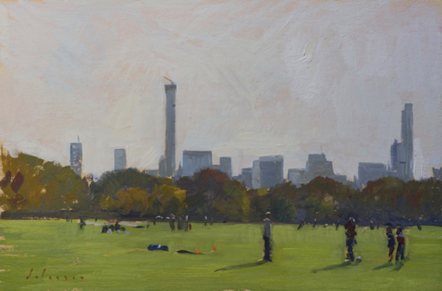 , 'Soccer Players in Central Park,' 2014, Grenning Gallery
