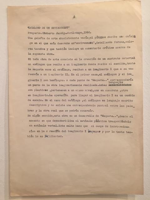 , 'Catalogo de um Environment,' 1966, Baró Galeria