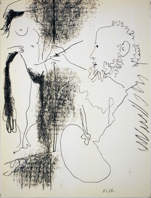 Pablo Picasso, 'Painter and Model', (Date unknown), ArtWise
