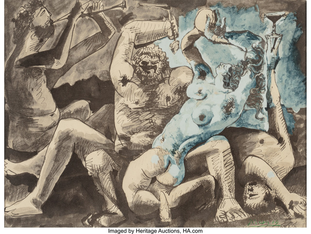 Pablo Picasso, 'Bacchanale II', 1955, Heritage Auctions