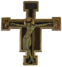 'Crucifix with Mourning Virgin and St. John the Evangelist', ca. 1270-1290, Walters Art Museum