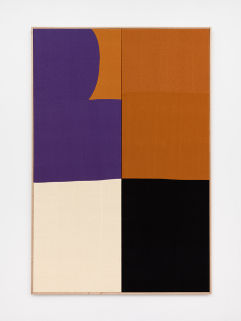 Ethan Cook, 'Purple Curve', 2020, Textile Arts, Hand woven cotton and linen, framed, NINO MIER GALLERY