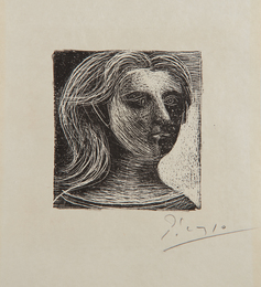 Tête de femme (Head of a Woman), from Picasso, dessins (Picasso, Drawings)