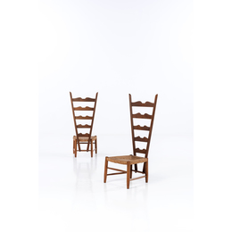 Pair Of High-Back Chairs