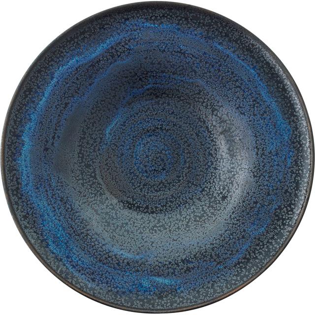 Gertrud Natzler, 'Fine flaring low bowl, Midnight Sky Deep Blue Crystalline glaze, Los Angeles, CA', 1963, Rago