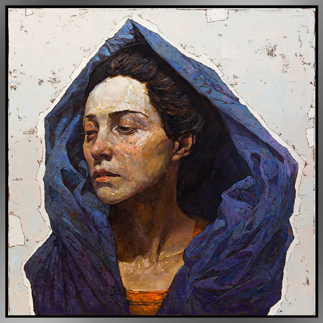 Denis Sarazhin, 'Blue Scarf', 2017, ARCADIA CONTEMPORARY