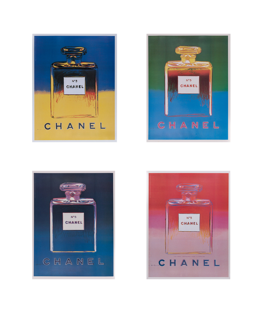 Andy Warhol, 'Chanel No. 5, Suite of Four', Reproduction, Offset color screenprint on paper laid to linen, Doyle